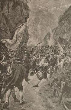 Kampf an der Pontlatzbrücke